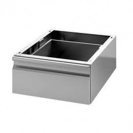 Tiroir simple inox GN 1/1 pour table prof.600