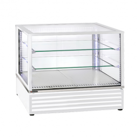 Vitrine panoramique blanche 2 GN1/1