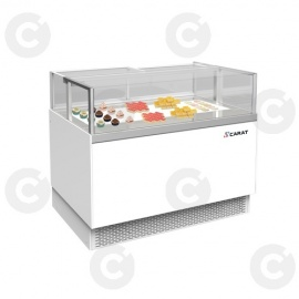 VITRINE REFRIG LAQUEE BLANC CASSIS 2100