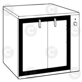 Étuve vitrée statique 8 niveaux 600x400
