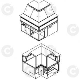 Schéma 3D vitrine service arrière OPÉRA côté client