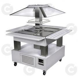 Buffet salad'bars bain-marie blanc