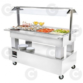 Buffet salad'bars mixte 4 x GN 1/1 blanc