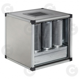 Caisson à charbons actifs statique 9 cylindres