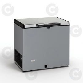 Congélateur coffre 220 L - couvercle inox