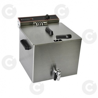 Friteuse de table élect. simple avec vidange 8 L