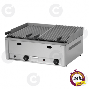Grill charcoal gaz double