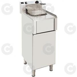 Friteuse sur coffre simple élect. avec vidange 12 L