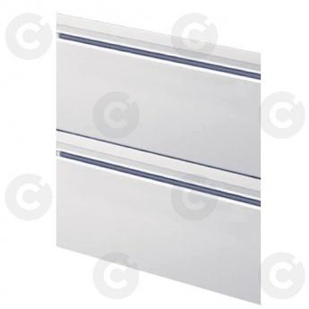 Kit bloc 2 tiroirs 1/2 prof.600