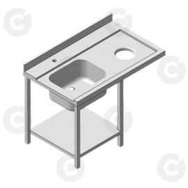 Positionnement du Lave-vaisselle (non fourni)