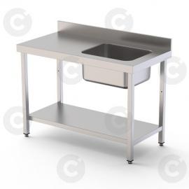 TABLE DU CHEF BAC À DROITE 1400 X 700 X 900